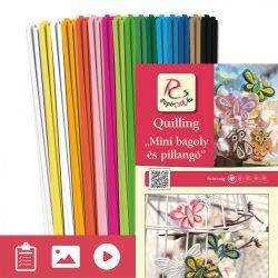 Mini Eule und Schmetterling - Quilling Muster (180 Stück Streifen und Beschreibung mit Bilder)