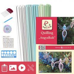 Engelchen - Quilling Muster (130 Stück Streifen, Beschreibung, Werkzeuge)