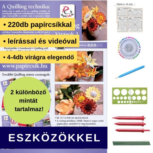Blumen 1. - Quilling Muster (220 Stück Streifen, Beschreibung, Werkzeuge)