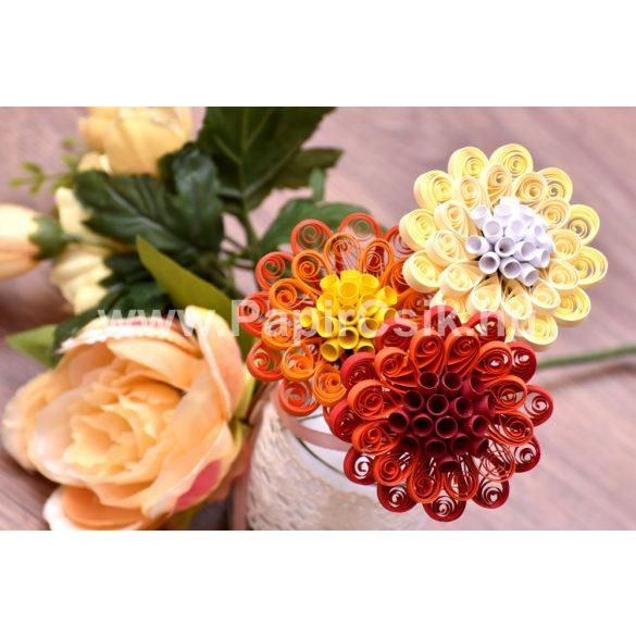 Blumen 1. - Quilling Muster (220 Stück Streifen und Beschreibung mit Bilder)