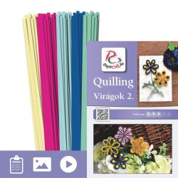 Blumen 2. - Quilling Muster (220 Stück Streifen und Beschreibung mit Bilder)