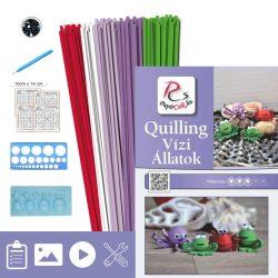 Wassertiere - Quilling Muster (190 Stück Streifen, Beschreibung, Werkzeuge)