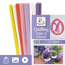 Ei und Hase - Quilling Muster (220 Stück Streifen und Beschreibung mit Bilder)