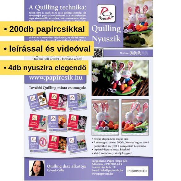 Hasen - Quilling Muster (200 Stück Streifen und Beschreibung mit Bilder)