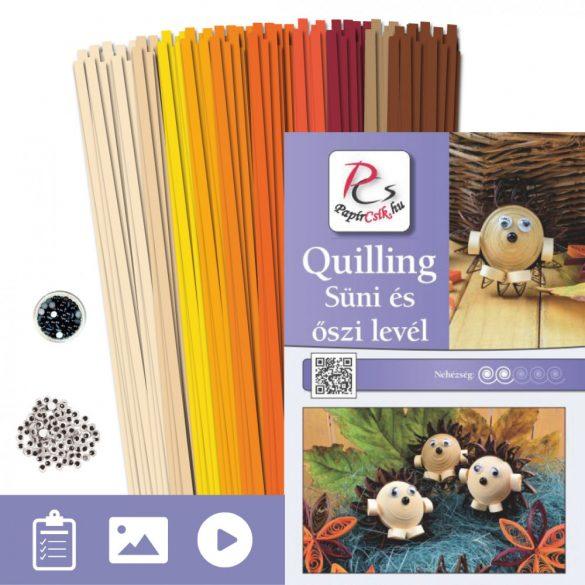Igel und Blatt - Quilling Muster (210 Stück Streifen und Beschreibung mit Bilder)