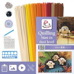 Igel und Blatt - Quilling Muster (210 Stück Streifen, Beschreibung, Werkzeuge)