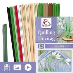 Schneeglöckchen - Quilling Muster (230 Stück Streifen und Beschreibung mit Bilder)