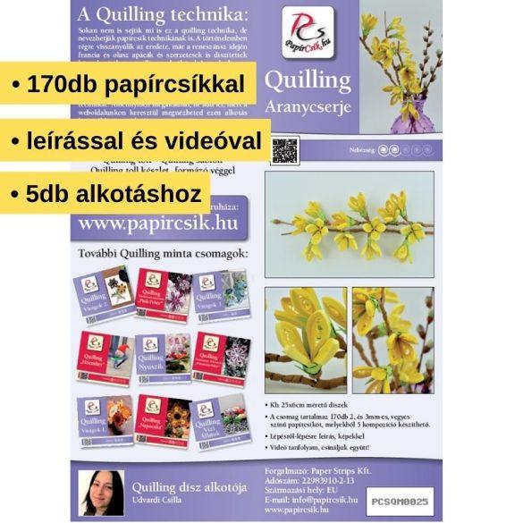 Goldener Strauch  - Quilling Muster (170 Stück Streifen und Beschreibung mit Bilder)
