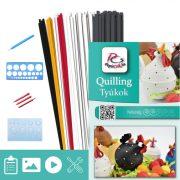 Hühner - Quilling Muster (180 Stück Streifen, Beschreibung, Werkzeuge)