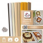 Löwe und Tiger - Quilling Muster (230 Stück Streifen und Beschreibung mit Bilder)