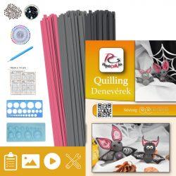 Fledermaus - Quilling Muster (200 Stück Streifen, Beschreibung, Werkzeuge)
