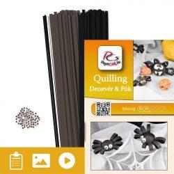 Fledermaus und Spinne - Quilling Muster (160 Stück Streifen und Beschreibung mit Bilder)