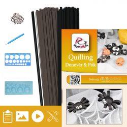 Fledermaus und Spinne - Quilling Muster (160 Stück Streifen, Beschreibung, Werkzeuge)