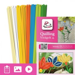 Blumen 4. - Quilling Muster (190 Stück Streifen und Beschreibung mit Bilder)