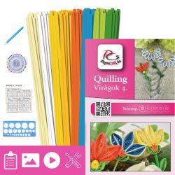 Blumen 4. - Quilling Muster (190 Stück Streifen, Beschreibung, Werkzeuge)