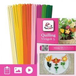 Blumen 5. - Quilling Muster (180 Stück Streifen und Beschreibung mit Bilder)