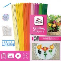 Blumen 5. - Quilling Muster (180 Stück Streifen, Beschreibung, Werkzeuge)