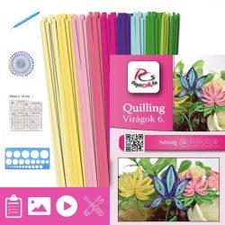 Blumen 6. - Quilling Muster (210 Stück Streifen, Beschreibung, Werkzeuge)