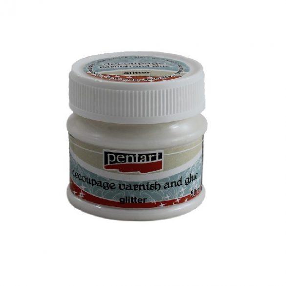 Decoupage Lackkleber - glitzert (50ml)