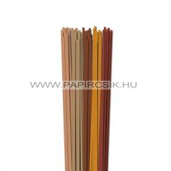 Braun Farbton, 4mm Quilling Papierstreifen (5x20, 49 cm)