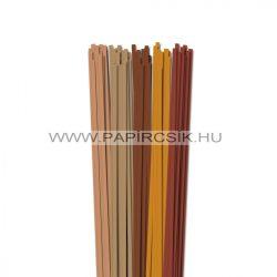 Braun Farbton, 5mm Quilling Papierstreifen (5x20, 49 cm)