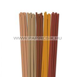 Braun Farbton, 7mm Quilling Papierstreifen (5x20, 49 cm)