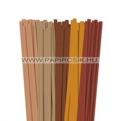 Braun Farbton, 10mm Quilling Papierstreifen (5x20, 49 cm)