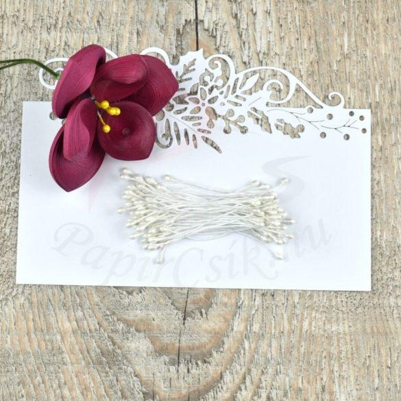 Blumen Lätzchen (weiß, 3mm, 150Stück)