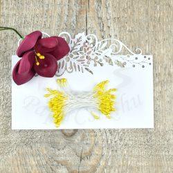 Blumen Lätzchen (gelb, 3mm, 50Stück)