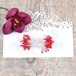Blumen Lätzchen (rot, 3mm, 50Stück)