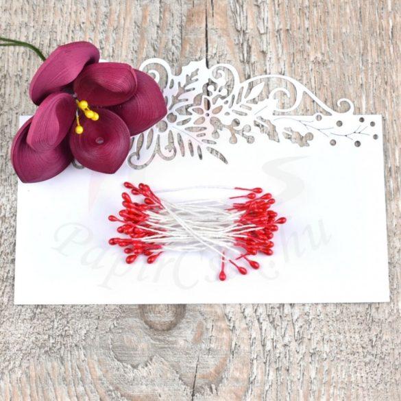 Blumen Lätzchen (rot, 3mm, 150Stück)