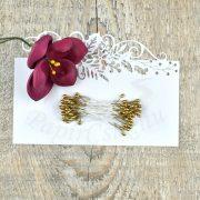 Blumen Lätzchen (gold, 3mm, 50Stück)