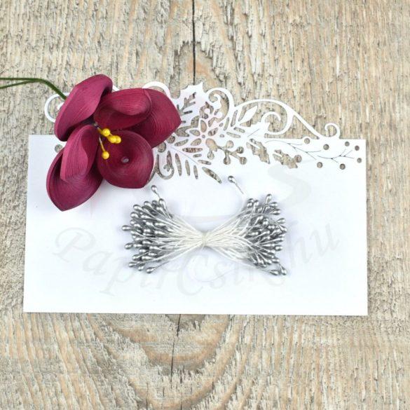 Blumen Lätzchen (silber, 3mm, 150Stück)