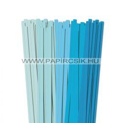 Hellblau Farbton, 10mm Quilling Papierstreifen (5x20, 49 cm)