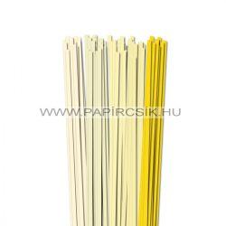 Hellgelb Farbton, 6mm Quilling Papierstreifen (5x20, 49 cm)