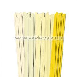 Hellgelb Farbton, 10mm Quilling Papierstreifen (5x20, 49 cm)