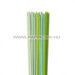Hellgrün Farbton, 4mm Quilling Papierstreifen (5x20, 49 cm)