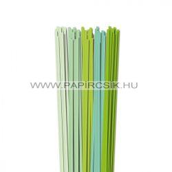 Hellgrün Farbton, 5mm Quilling Papierstreifen (5x20, 49 cm)