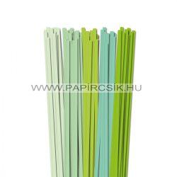 Hellgrün Farbton, 7mm Quilling Papierstreifen (5x20, 49 cm)
