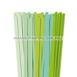 Hellgrün Farbton, 10mm Quilling Papierstreifen (5x20, 49 cm)