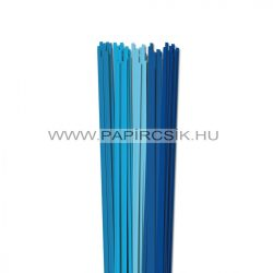 Blau Farbton, 4mm Quilling Papierstreifen (5x20, 49 cm)