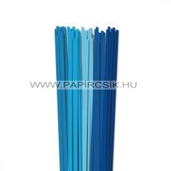 Blau Farbton, 5mm Quilling Papierstreifen (5x20, 49 cm)