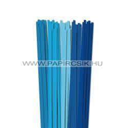 Blau Farbton, 6mm Quilling Papierstreifen (5x20, 49 cm)