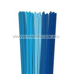 Blau Farbton, 7mm Quilling Papierstreifen (5x20, 49 cm)