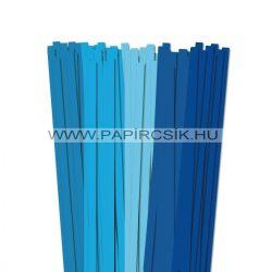 Blau Farbton, 10mm Quilling Papierstreifen (5x20, 49 cm)