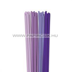 Violett Farbton, 6mm Quilling Papierstreifen (4x20, 49 cm)