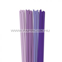 Violett Farbton, 7mm Quilling Papierstreifen (4x20, 49 cm)