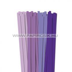 Violett Farbton, 10mm Quilling Papierstreifen (4x20, 49 cm)