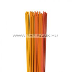 Orange Farbton, 4mm Quilling Papierstreifen (5x20, 49 cm)