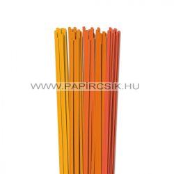 Orange Farbton, 5mm Quilling Papierstreifen (5x20, 49 cm)